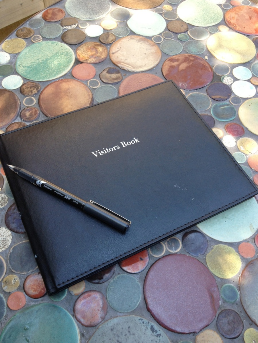 visitors book