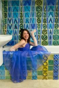 Kay in bathroom