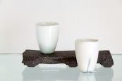 Sandy Lockwood Stand and Two Cups