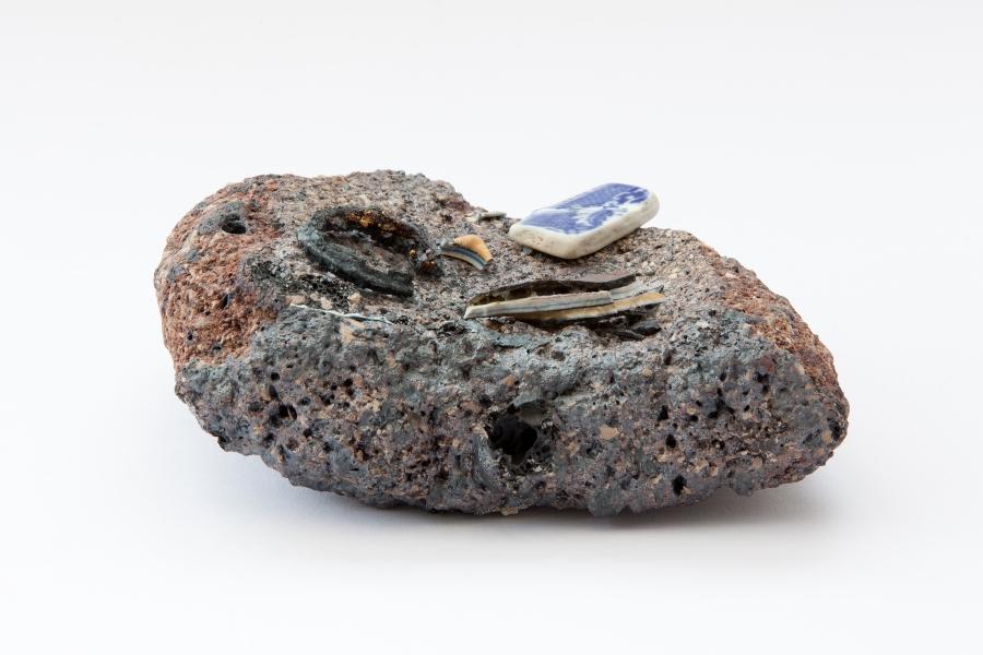 8. Tremorfa Tideline Series, (2011). Stoneware fired Ceramic. 20cm x 12cm x 6cm. Artist, Owen Quinlan. Photographer Credit, Kelvin Gilmore.