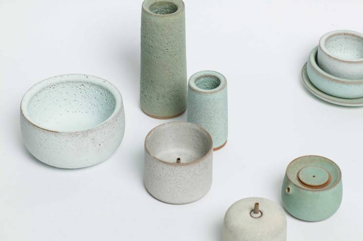 Hye Mi Lee, stoneware series, stoneware, various sizes, 2016