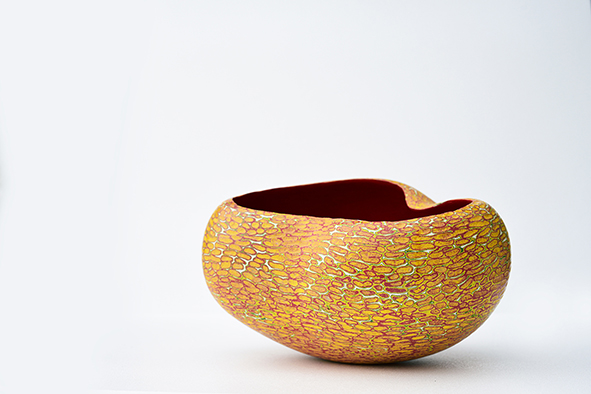 Sang Woo Kim, Autumn, Stoneware, porcelain, pigment, 30x24x19, 2016