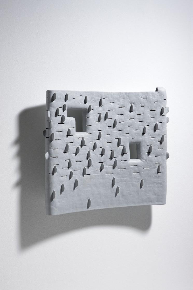 Chun Bok Lee, Still forest 3, porcelain, polished, 51x47x12cm, 2015